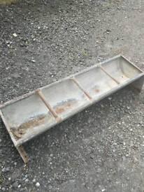 Metal galvanized cattle trough