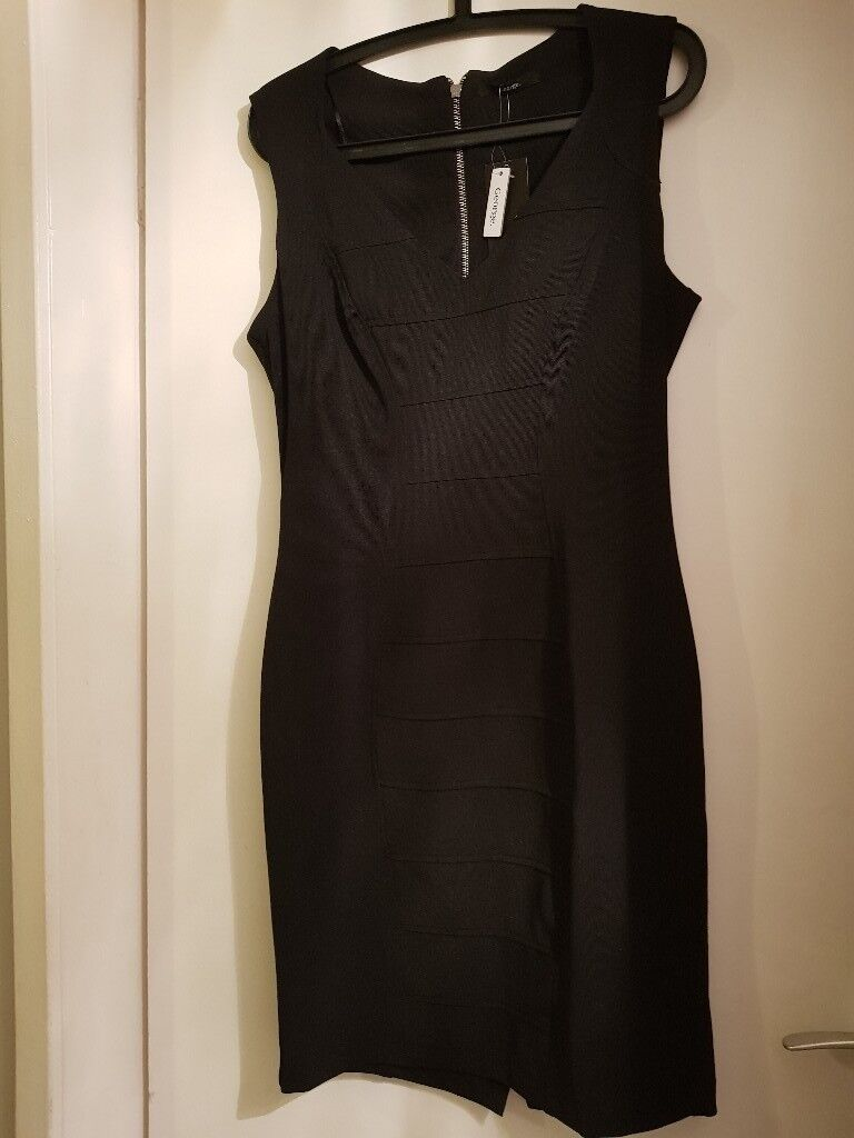 Ladies Black Bodycon Dress - Size 16 - Brand New with tags - Uplift East Kilbride