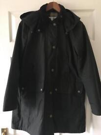 Barbour jacket - green wax - ladies size 10