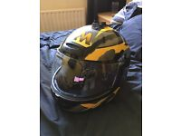 FM Yellow Motorbike Helmet - Medium (M 58)