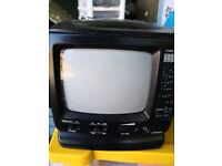 """5"""" portable TV / radio. With mains power pack"""