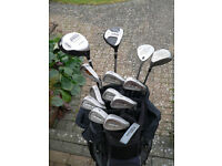 Terry Gilbert set of Right Hand golf clubs, bag, balls and tees. Ideal beginner.
