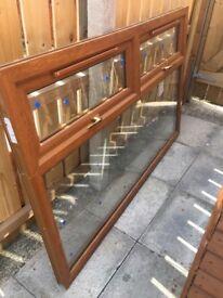 PVC window oak colour