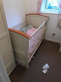 Cot bed wardrobe and changing unit