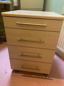 3 drawer and 1 tray drawers