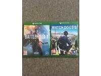 Battlefield 1, Watch Dogs 2 For Xbox One