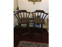 Solid Wood Bar Stools/High Chairs