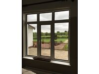 2 Double glazed Windows - one stained glass