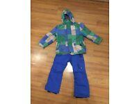 Snowboarding / Ski Jacket & Salopettes / Trousers - Age 6 Years
