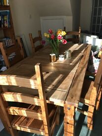 Wooden Dining Table & Chairs £150