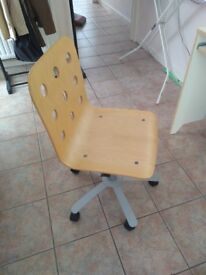Wooden desk chair