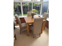 Harveys dining table & chairs