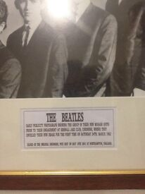 The Beatles . signed by Pete BEST . original drummer.