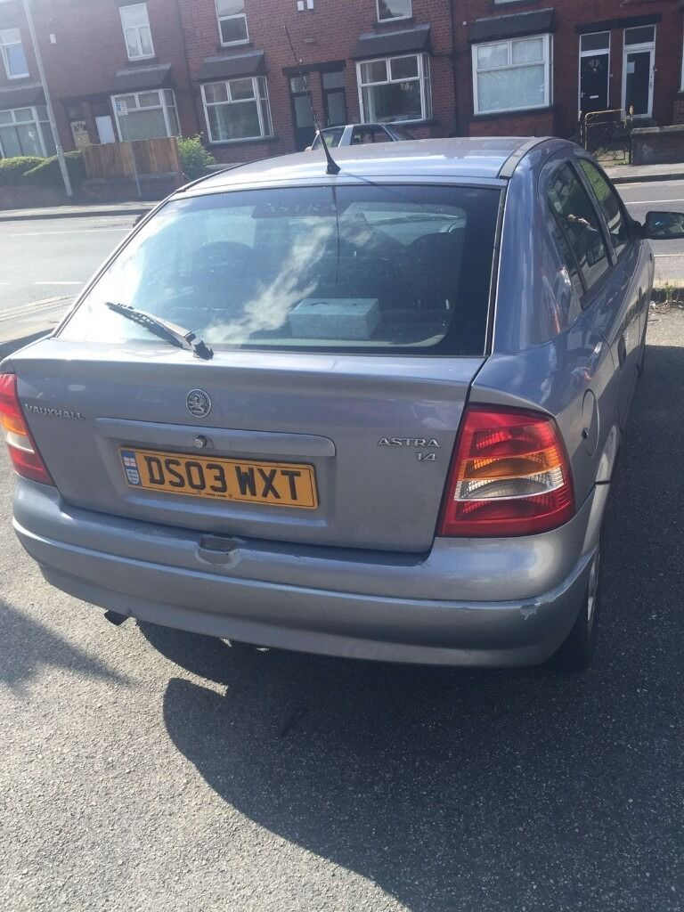 2003 Vauxhall Astra 1.4, Silver, Mot May 2017