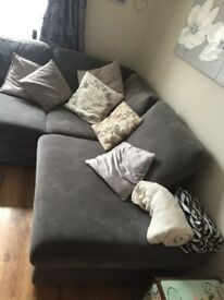 Grey L-Shape sofa