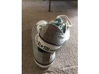 Grey Converse trainers size 5