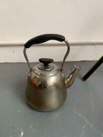 Antique vintage stainless steel job kettle stea