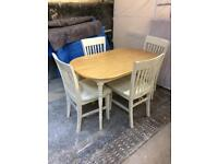 Pine table and chairs shabby chic country kitchen