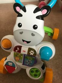 Fisher-Price Learn with Me Zebra Walker, Baby or Toddler Walker with Music and Sounds