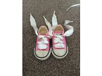Pink bling baby converse size 3