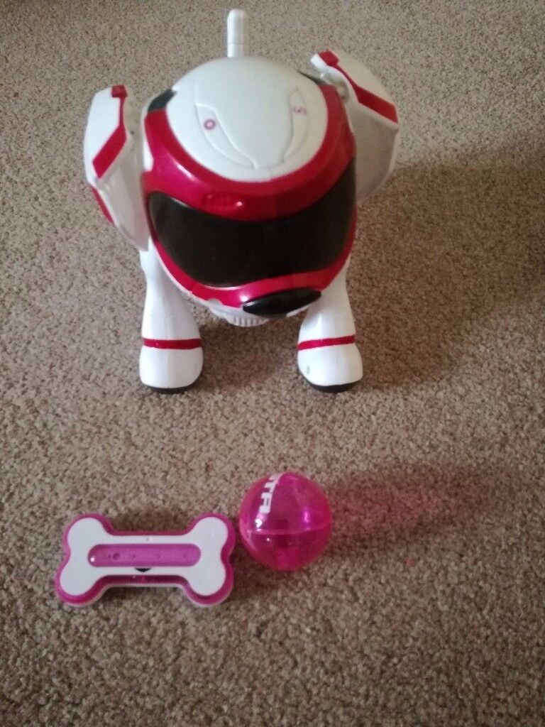 Teksta Robotic Puppy - PINK with all accessories included