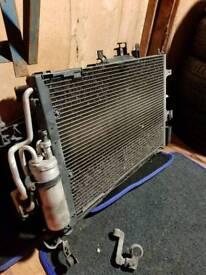 RADIATOR PACK FAN AC RADIATOR CORSA C SRI 1.8 PETROL VAUXHALL