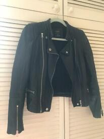 """20678a70 All Saints Leather Jacket - Black - Mens - Small - """"Cargo"""" - cool ..."""