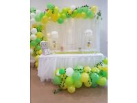 Party and Birthday Decoration/ Event/ Christening/baby shower/ balloon/ chair sashes packages