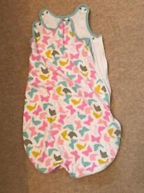 Mothercare sleeping bag 0-6 months 1 tog butterflies