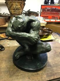 Large bronze of a nude.