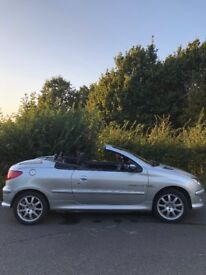 Peugeot 206 cc Convertible ONLY 67KMiles!!!!!04 Reg 1.6 OneYears Mot Full service history ONLY £699