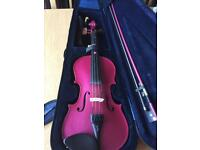 Pink Stentor 3/4 size violin. Approx 2 years old. Have upsized hence sale. OPEN TO OFFERS