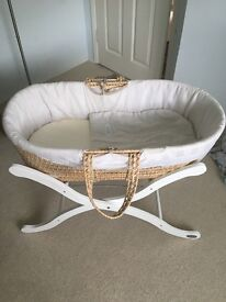 Baby Weavers Moses Basket & stand