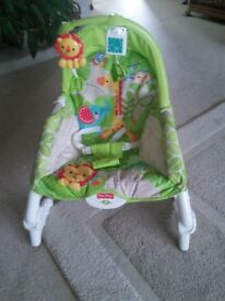 Fischer price vibrating baby bouncer good condition