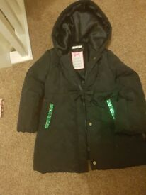 Girls black coat age 4/5