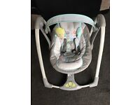 Battery operated swing chair - practically brand new only used a couple of times! In great condition