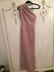 size 6 prom dress one shoulder champagne colour