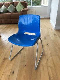 Child's Blue chair. Can be used at a desk.