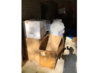 Free - cardboard boxes and bubble wrap good condition