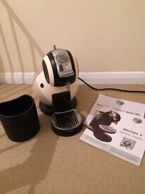 Nescafe Dolce Gusto coffee machine for sale (Cream colour) used a few times