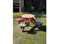 Childs plum picnic table