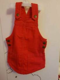 Baby girl cord red dress NEXT 9-12m