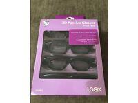 3D glasses for 3D TV Logik - brand new