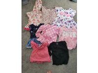 Girls clothes size 2-4 10 dress 10 leggings 8 tops 6 swimming suits