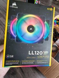 Corsair LL120 Dual Light Loop PWM Fan (120mm) RGB LED (3 Fan Pack)