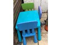 Ikea kids table with 3 chairs