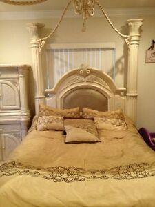 Monte Carlo Canopy Bedroom Set Silver Snow Ebay