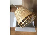 Ikea bamboo lamp in original packaging