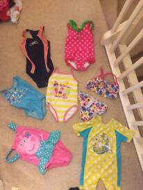 Girl swimming costumes