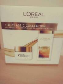 Loreal Age Perfect face wash and cream